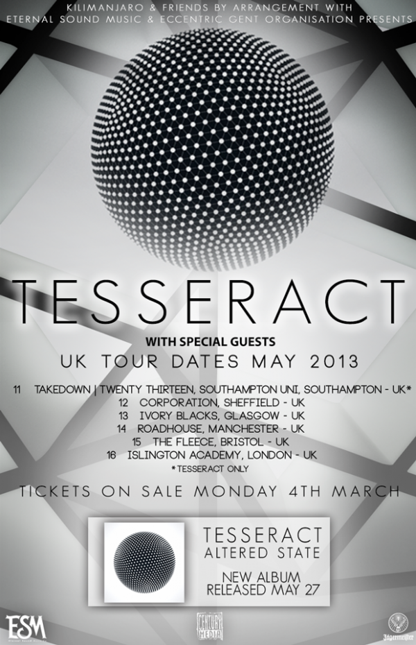 Tesseract 2013 UK tour
