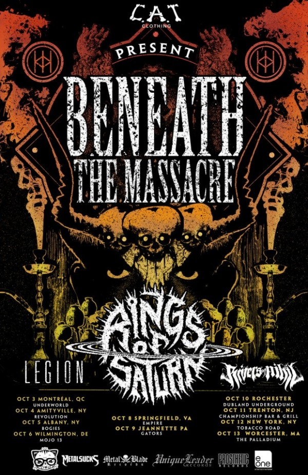 beneath the massacre headlining tour 2013