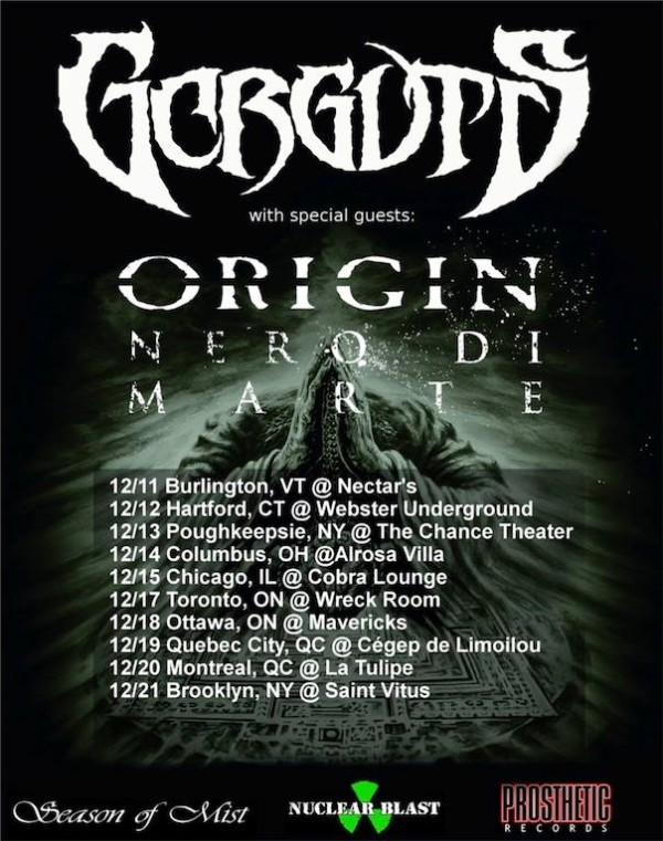 gorguts december tour