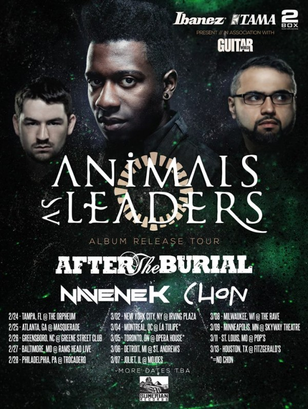 Animals as Leaders NA tour 2014