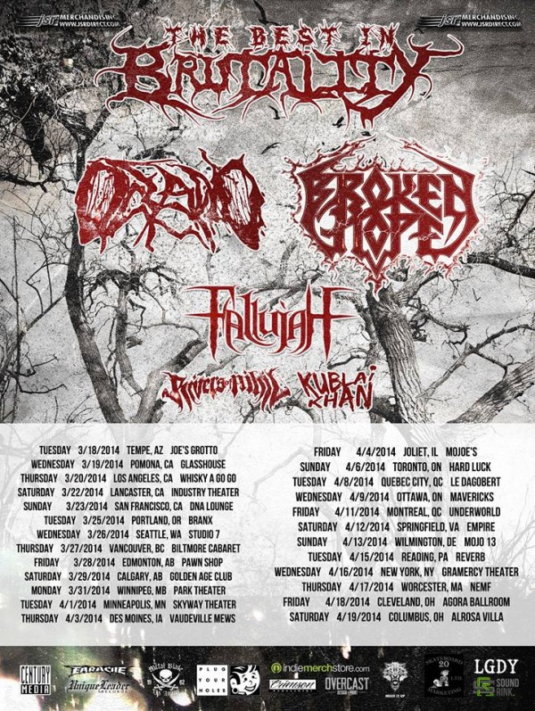 Best in Brutality Tour 2014 Oceano Broken Hope
