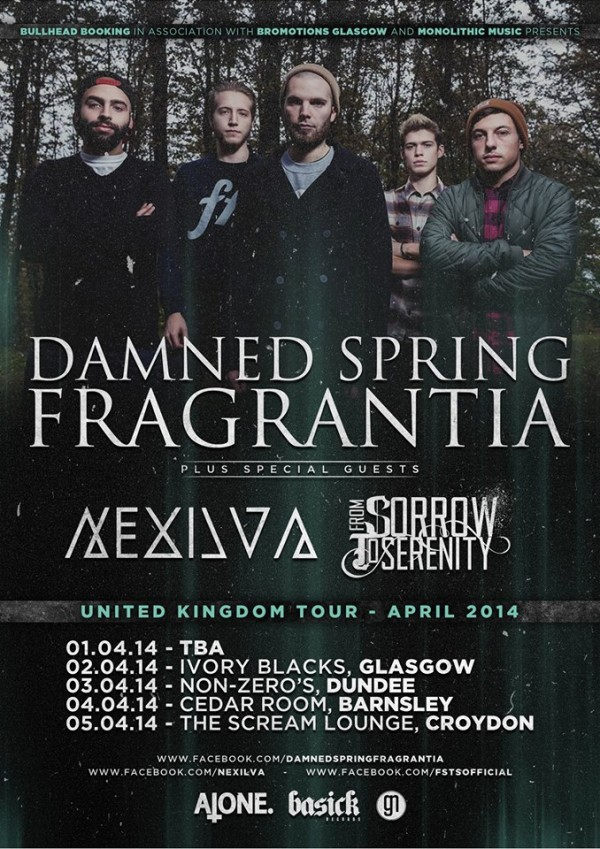damned spring uk tour april 2014