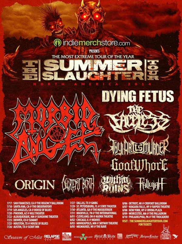 summer slaughter 2014 dates