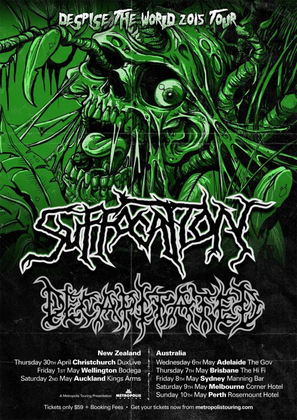 Suffocation Decapitatated Tour Poster