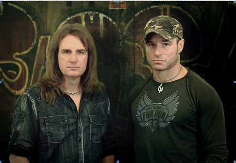Dave Ellefson (Megadeth) and Jay aka Johnny Wore Black