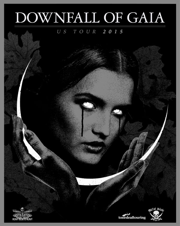 downfall of gaia tour 2015 poster