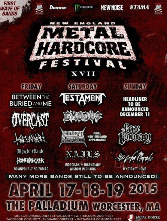 New England Metal & Hardcore Festival 2015 Announces First