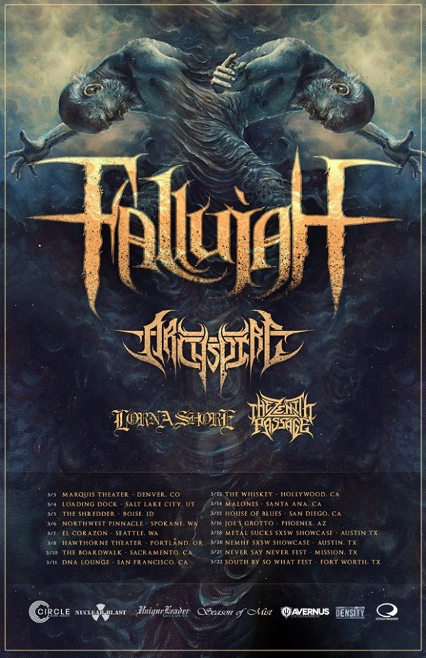 fallujah west coast tour 2015