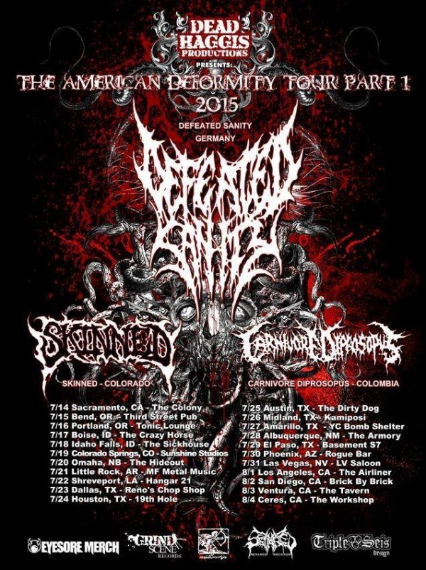 defeated sanity US tour 2015