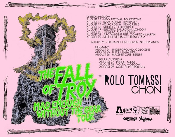 The Fall of Troy European Tour With CHON & Rolo Tomassi