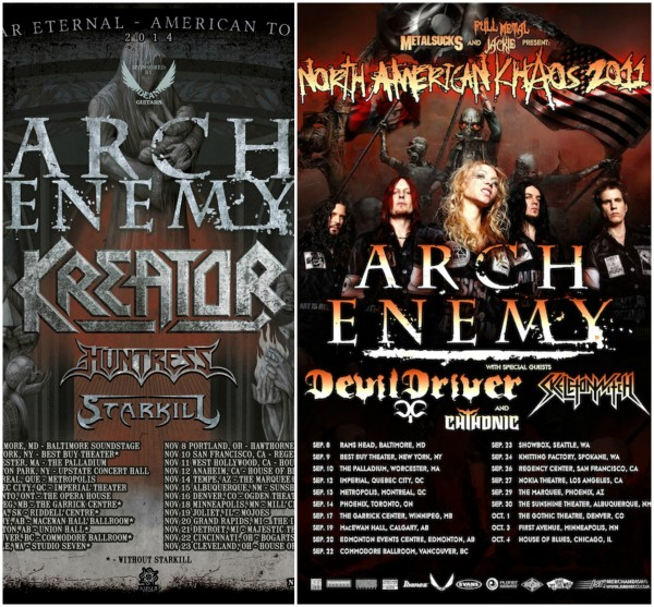 Arch Enemy Tour Collage