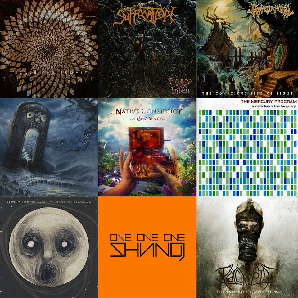 Scale the Summit – The Collective Suffocation – Pierced From Within Rivers of Nihil – The Conscious Seeds of Light Revocation – Deathless Native Construct – Quiet World The Mercury Program – A Data Learn The Language  Steven Wilson – The Raven That Refused to Sing Shining – One One One Psycroptic – The Inherited Repression