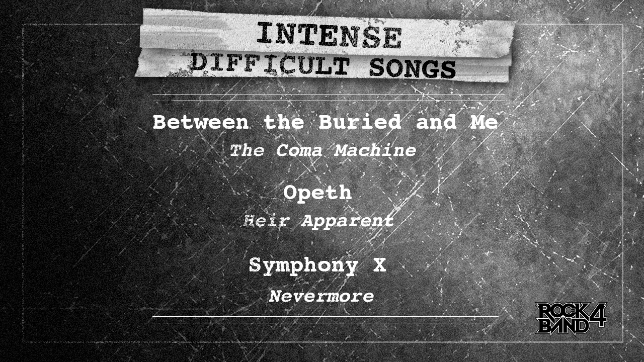 New Rock Band 4 DLC Includes Between the Buried and Me, Symphony X ...